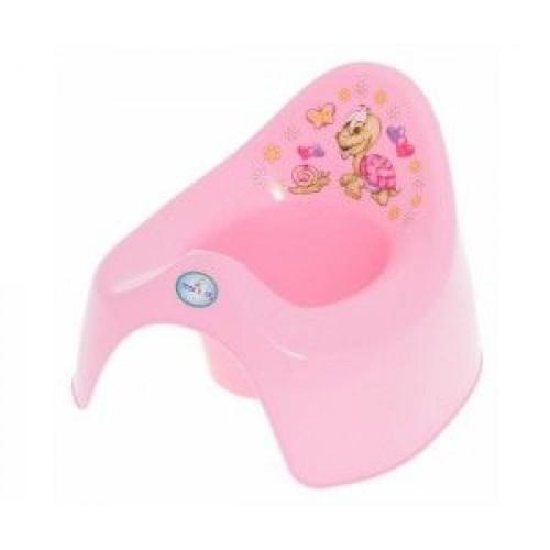 Горшок дет. Веселая черепаха (муз). розовый