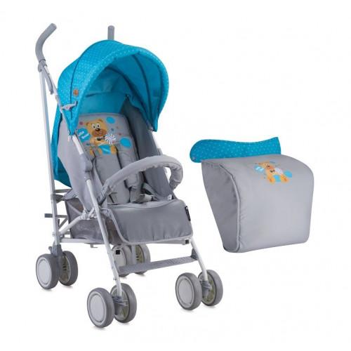 Детская коляска трость Bertoni (Lorelli) Fiesta Blue&Grey Hello Bear 1718