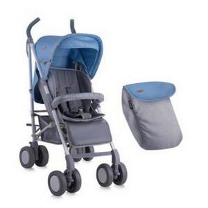Прогулочная коляска трость Bertoni (Lorelli) Onyx Blue&Grey 1680