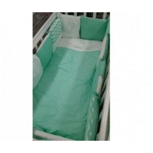 Комплект в кроватку Гав-гав (6 предметов) бирюза