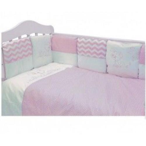 Комплект в кроватку Гав-гав (6 предметов) розовый