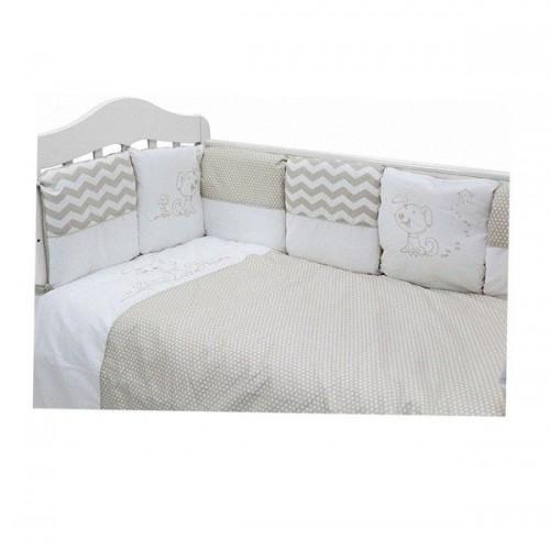 Комплект в кроватку Гав-гав (6 предметов) серый