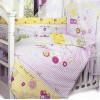 Комплект в кроватку Cool Car 7 предметов розовый