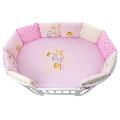 Комплект в кроватку Лимпопо 17 предметов розовый