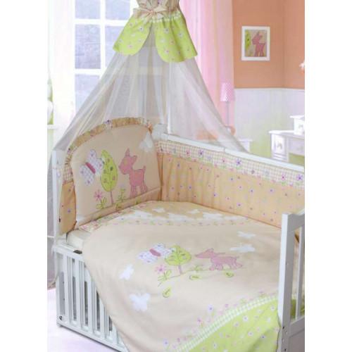 Комплект в кроватку Little Friend 7 предметов бежевый