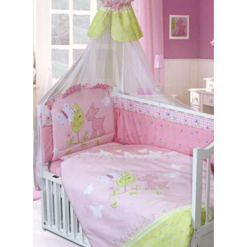 Комплект в кроватку Little Friend 7 предметов розовый