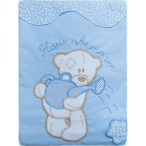 Постельное белье для детей Сабина 3 предмета голубой