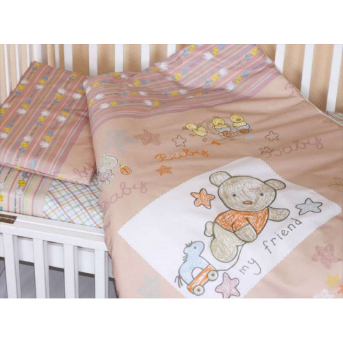 Комплект в кроватку Zoo Bear 7 предметов бежевый