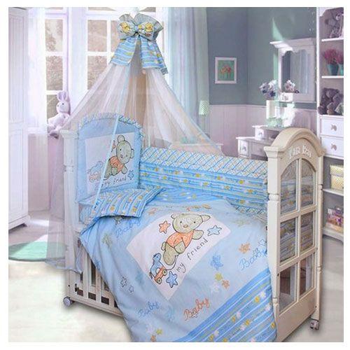 Комплект в кроватку Zoo Bear 7 предметов голубой