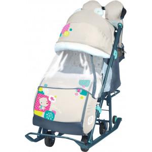 Санки-коляска Ника Детям 7-2 бежевый