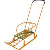 Санки Ника Тимка 5 Комфорт с колесом оранжевый