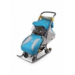 Санки-коляска Тимка 3 универсал синий бирюзовый