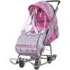 Санки-коляска Умка 3-1 розовый