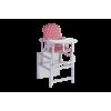 Стол стул трансформер Гном розовый