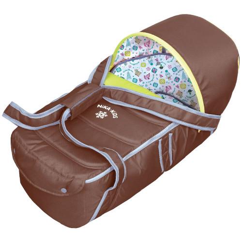 Люлька-переноска для санок и колясок НИКА шоколад