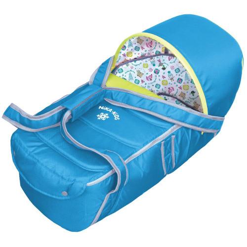 Люлька-переноска для санок и колясок НИКА синий