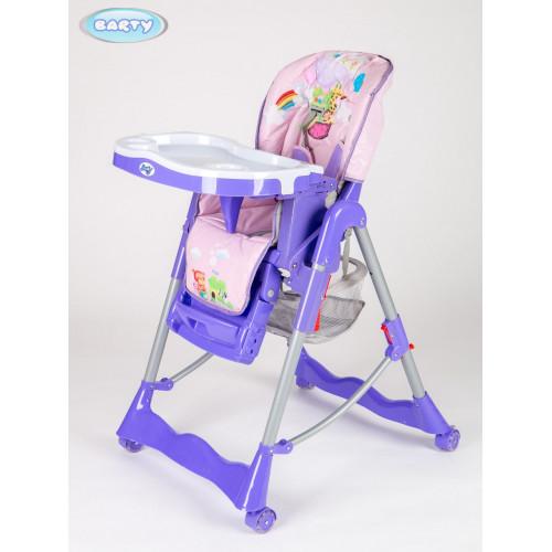Детский стульчик для кормления Barty GI-7 фиолетовый