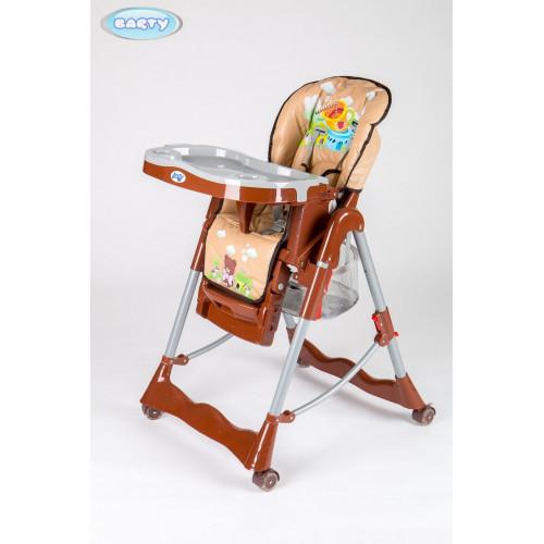 Детский стульчик для кормления Barty GI-7 кофейный