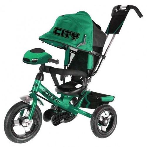 Велосипед CITY c с муз. панелью кол.12 и 10 зеленый